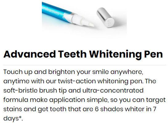 stylo de blanchiment des dents